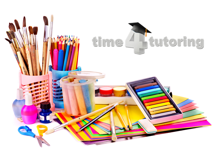 The real art supply list for homeschoolers time 4 tutoring for Arts and crafts supplies online